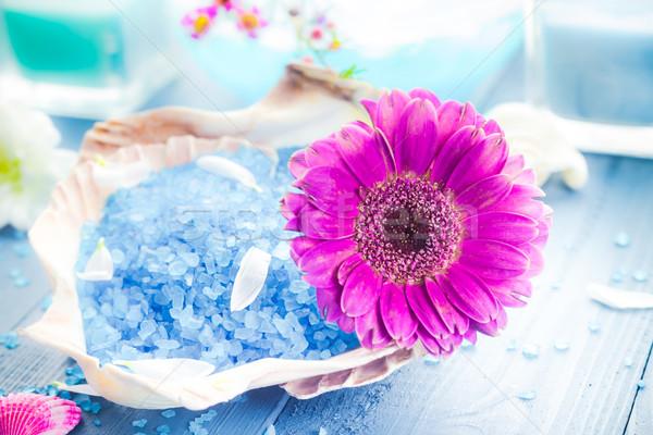 Spa aromatique fleur santé table Photo stock © fotoaloja