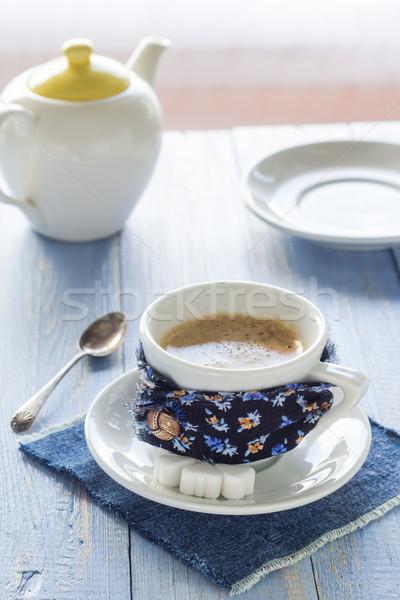 Tazza di caffè nero rosolare bianco brocca Foto d'archivio © fotoaloja