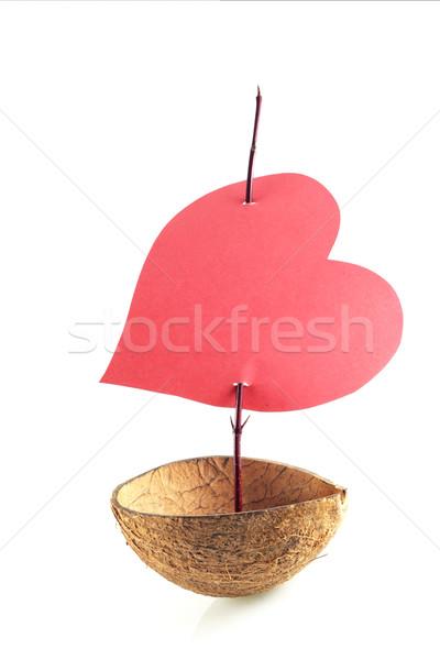 boat of love Stock photo © fotoaloja