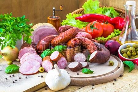 表 プレート 野菜 木材 自然 ストックフォト © fotoaloja