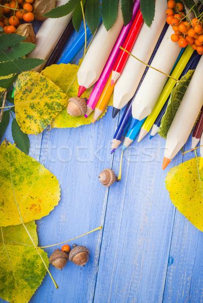 Vintage background Concept autumn back school Stock photo © fotoaloja