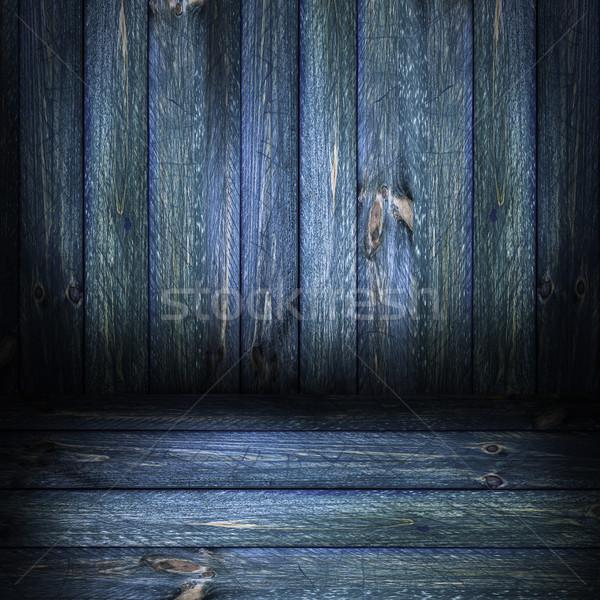 Background wooden panel boards green Stock photo © fotoaloja
