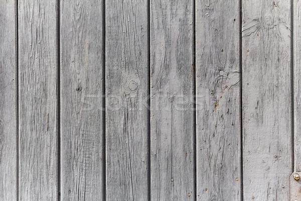 Stock fotó: Fal · fából · készült · deszkák · festett · fehér · szürke