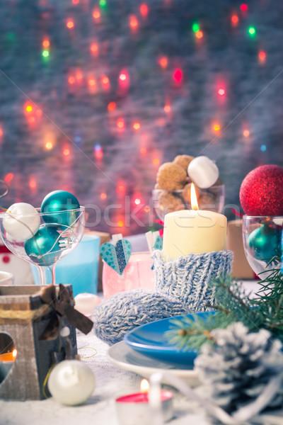 Natal tabela conselho ano novo Foto stock © fotoaloja