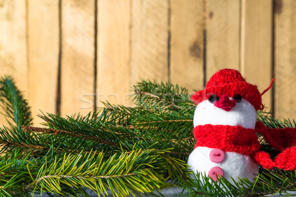 снеговик совета Рождества зима плюш Сток-фото © fotoaloja