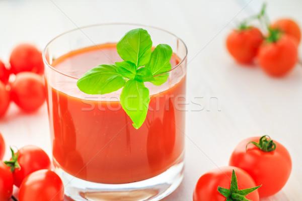 Taze domates suyu ahşap gıda Retro sebze Stok fotoğraf © fotoaloja