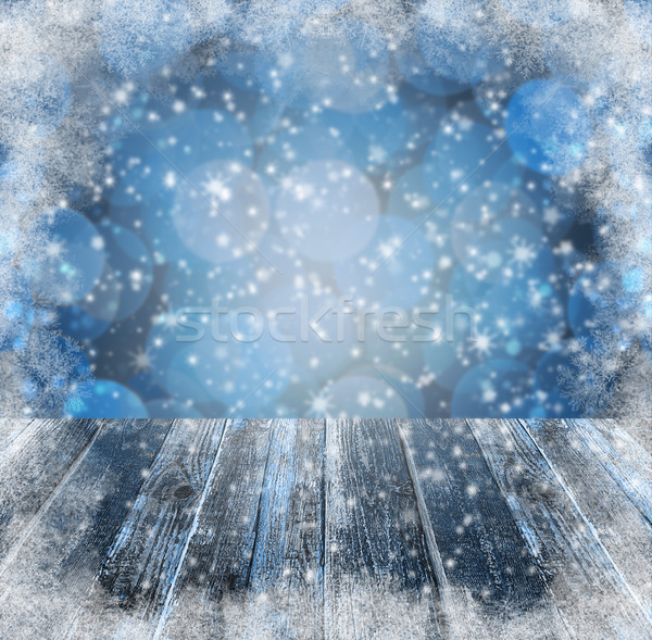 Winter background Graphics winter snow frost project sspace text Stock photo © fotoaloja