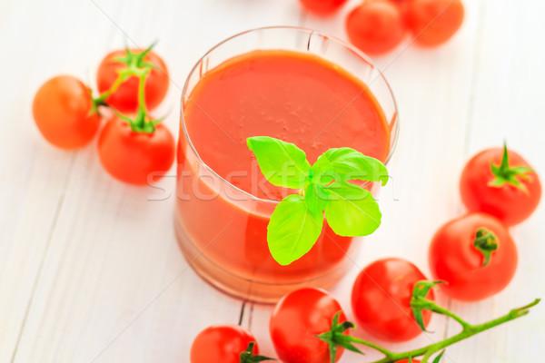здоровое питание сока красный помидоры черри продовольствие ретро Сток-фото © fotoaloja