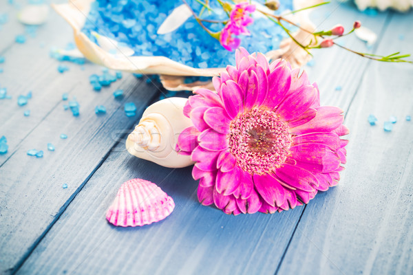Spa aromático flor salud mesa Foto stock © fotoaloja