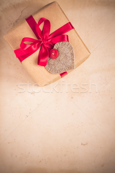 Valentines Day gifts hand sewn hearts old paper Stock photo © fotoaloja