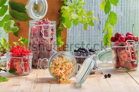Vorbereitung Produkte frischen farbenreich Sommer Früchte Stock foto © fotoaloja