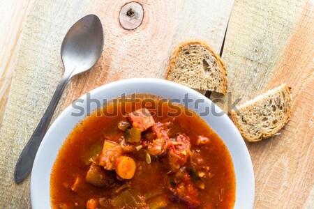 Ragoût courgettes légumes viande alimentaire repas Photo stock © fotoaloja