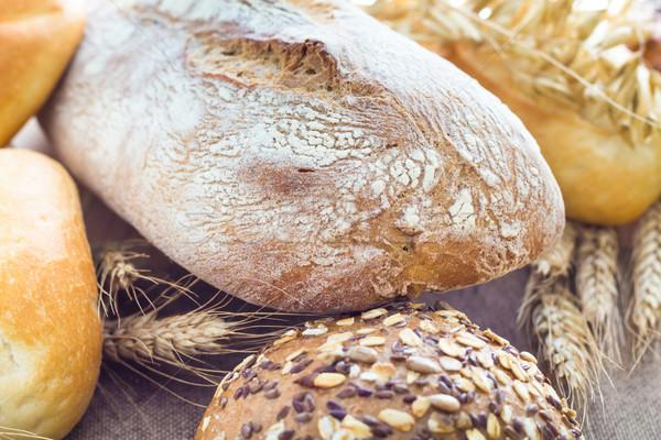 свежие буханка хлеб группа завтрак Сток-фото © fotoaloja