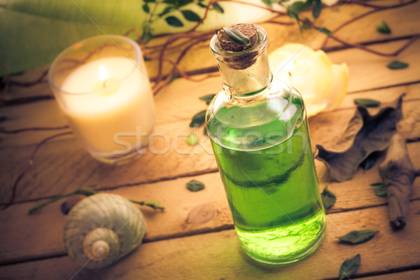 Body lotion aromatic candles session spa Stock photo © fotoaloja