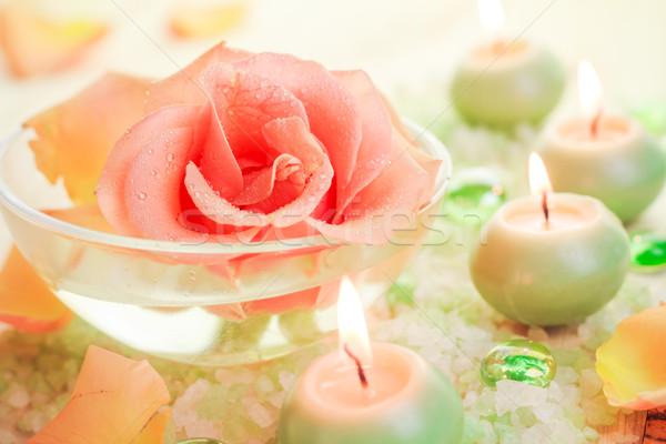 Estância termal componentes rosa flor aromático Foto stock © fotoaloja