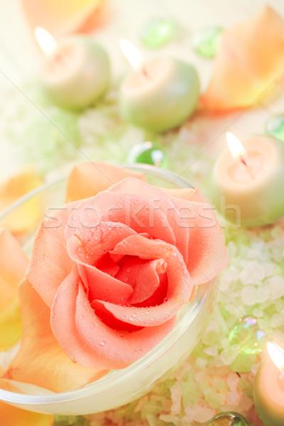 Spa composants rose fleur aromatique Photo stock © fotoaloja