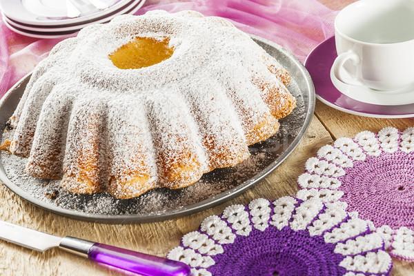 Cake baking baked food dough sweets dessert coffee Stock photo © fotoaloja