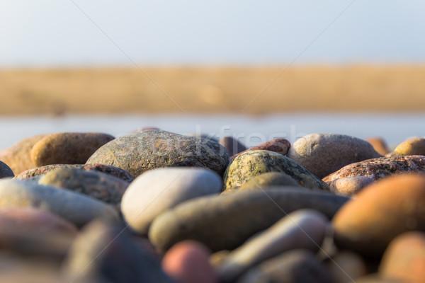 Baltic beach stones blue sky  Stock photo © fotoaloja