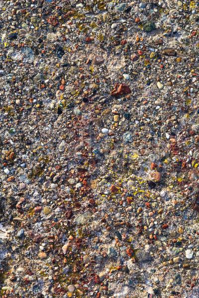 Background concrete wall colored stones Stock photo © fotoaloja