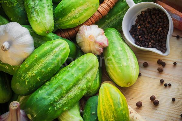 Stok fotoğraf: Malzemeler · hazırlık · salatalık · çiftlik · pazar · bitki