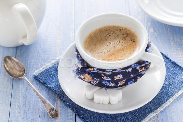 Kahve fincanı siyah kahverengi beyaz sürahi Stok fotoğraf © fotoaloja