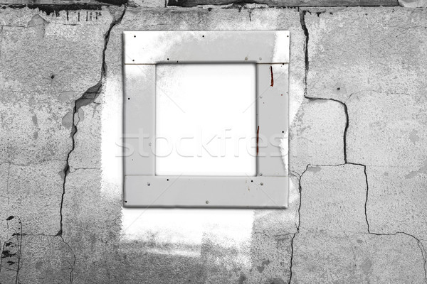 Window wall white old painting abstract wall cracked.jpg Stock photo © fotoaloja