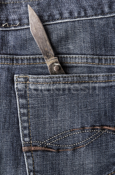 old knife back pocket jeans Stock photo © fotoaloja