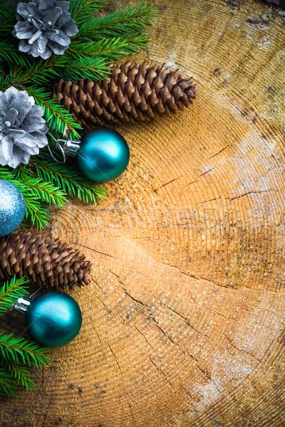 Albero di natale abete rosso pino legno Natale Foto d'archivio © fotoaloja
