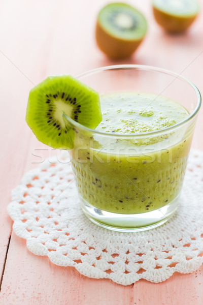 Dieta saudável kiwi mesa de madeira fruto retro Foto stock © fotoaloja