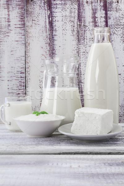 Milk cream cheese sour Stock photo © fotoaloja