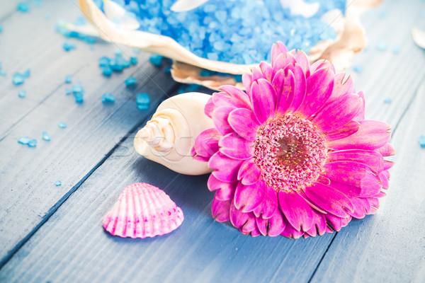 Spa ароматический цветок здоровья таблице Сток-фото © fotoaloja