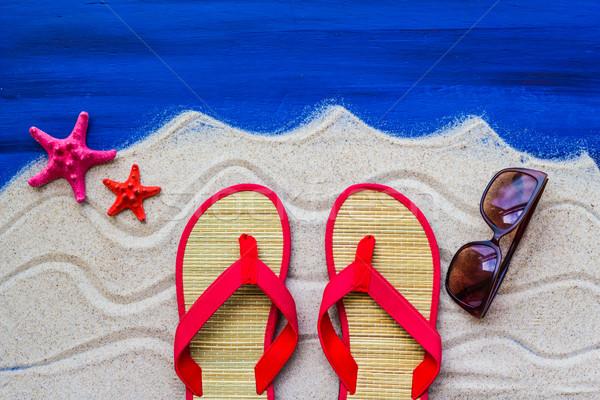 Mare conchiglie spiaggia di sabbia acqua pesce Foto d'archivio © fotoaloja