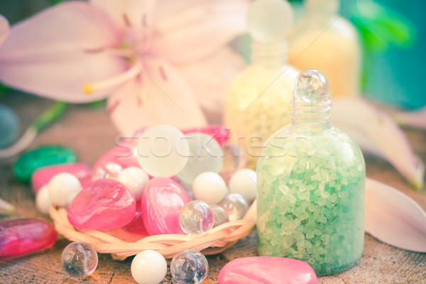 composition spa bathing salts natural flavors Stock photo © fotoaloja
