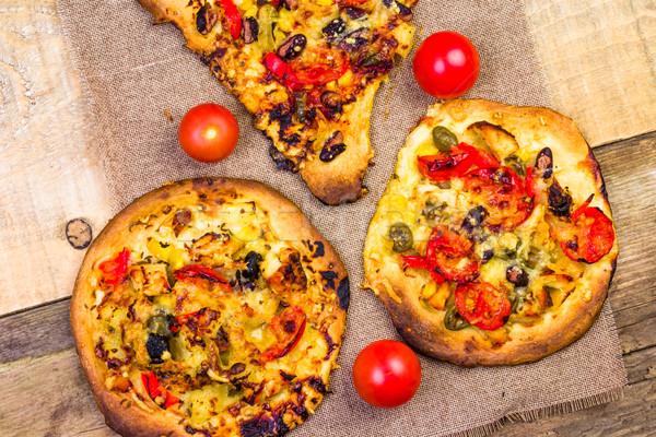 Primo piano pezzi pizza Foto d'archivio © fotoaloja