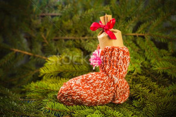 Navidad regalos calcetines decoraciones ataviar Foto stock © fotoaloja