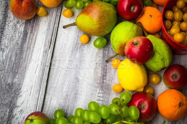 fruit background vintage wooden autumn food nature Stock photo © fotoaloja