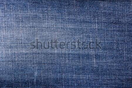 closeup detail blue jeans fabric background Stock photo © fotoaloja
