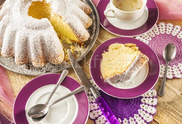 Gâteau alimentaire bonbons dessert Photo stock © fotoaloja
