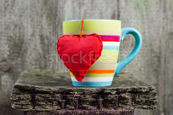 heart hung colored cup Stock photo © fotoaloja