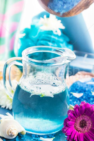 расслабляющая Spa ванны ароматический соль Сток-фото © fotoaloja