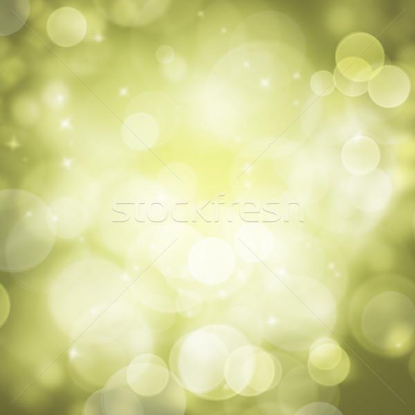 Abstract green circular bokeh background blur Stock photo © fotoaloja