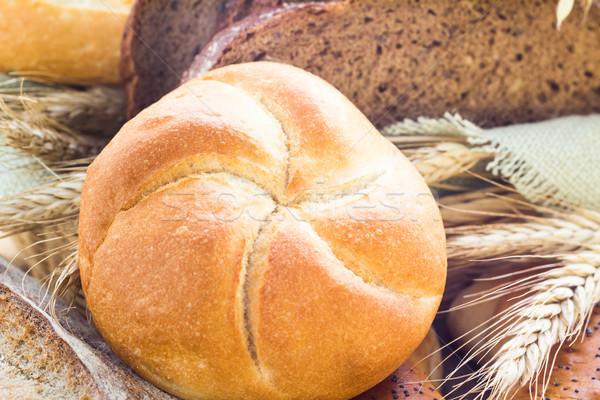 Сток-фото: буханка · хлеб · хрустящий · группа