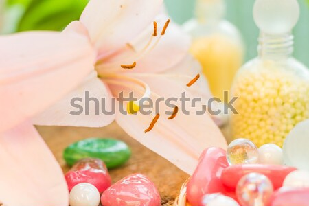Spa concept zen stones colored lily Stock photo © fotoaloja