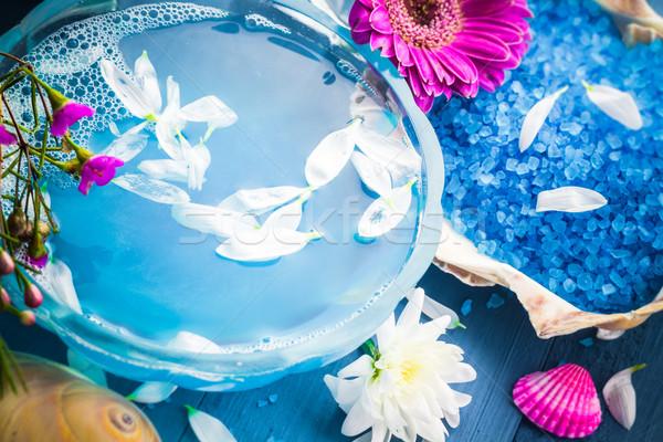 Estância termal água conchas flores flor Foto stock © fotoaloja