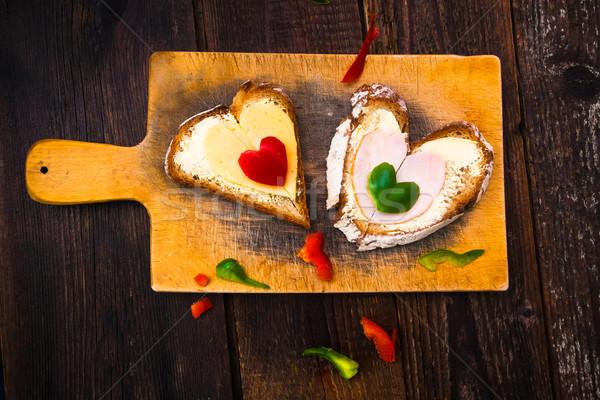 Валентин Бутерброды завтрак любителей продовольствие Сток-фото © fotoaloja