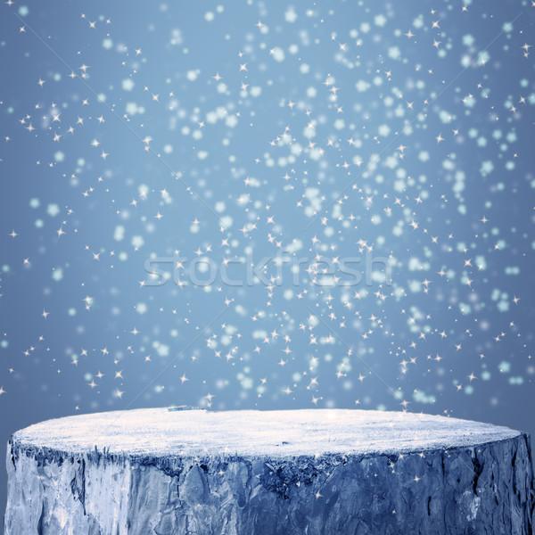 冬 グラフィックス 雪 霜 文字 木製 ストックフォト © fotoaloja