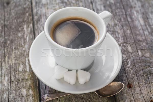 Tazza di caffè nero rosolare bianco Cup Foto d'archivio © fotoaloja