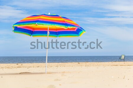 Colorful sunshade sunny beach Stock photo © fotoaloja