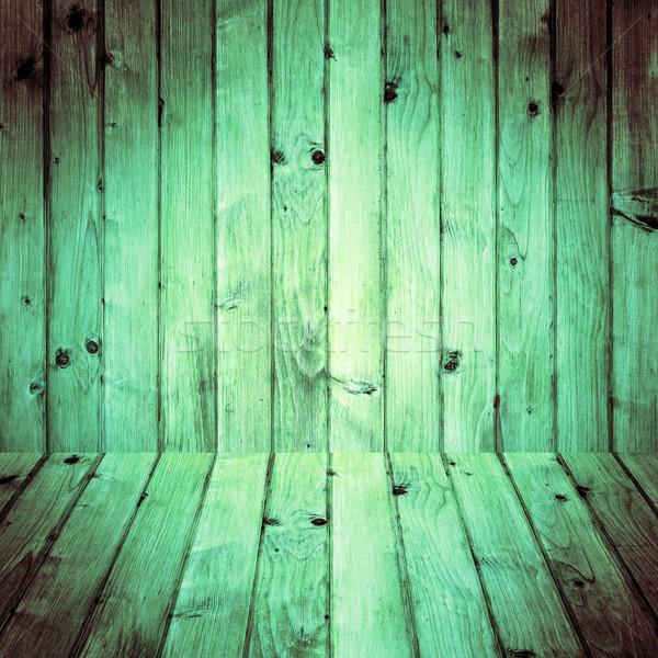 Interior room wooden walls floors Stock photo © fotoaloja