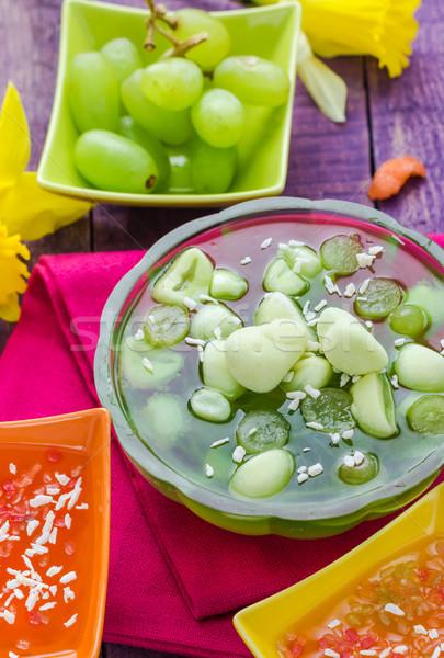 Tasty fruit jelly pieces grapes  Stock photo © fotoaloja
